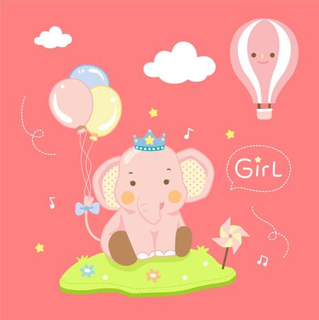 cute girl elephant