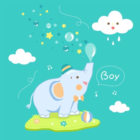 leuke jongen olifant