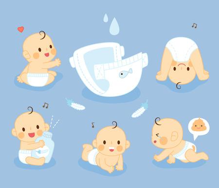 bebe sentado: set de pañales de bebé