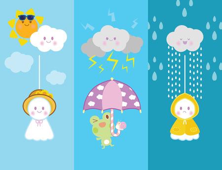 rainy day: rainy day  with cute doll japan