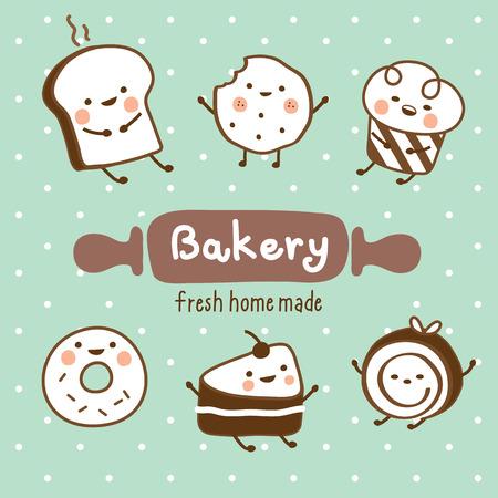 set sweet bakery Ilustrace