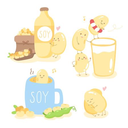 Goedemorgen met schattige soja en vriend