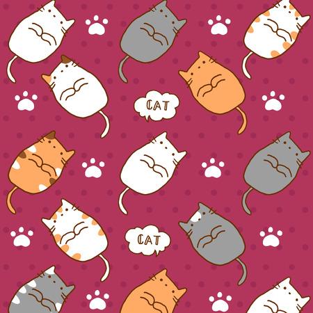 pattern cute cats Reklamní fotografie - 106619001