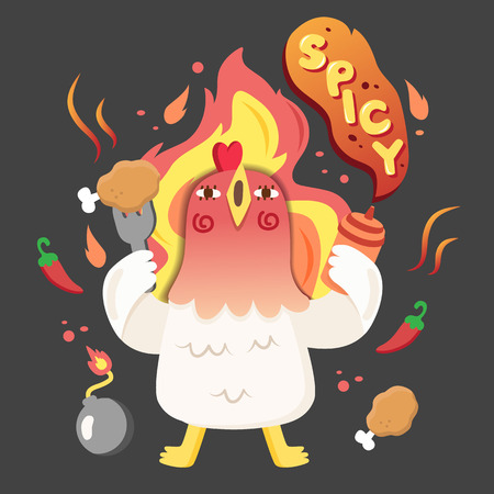 chicken character spicy
