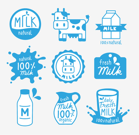 set fresh milk logo