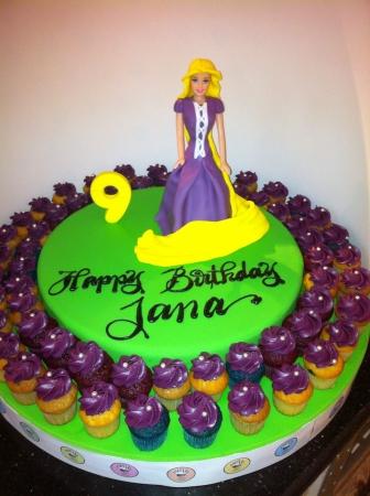 rapunzel: Yummy cupcakes Stock Photo