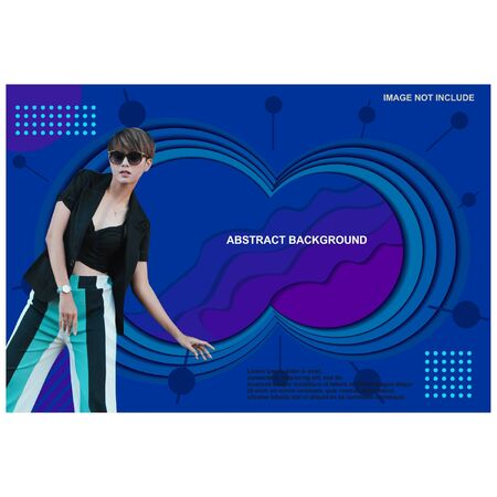 Abstrac background template for promo banner and cover blue circle
