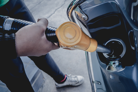 Pumping fuel in motorcycle