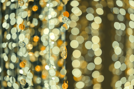 Bokeh background with gem and Christmas Lights  By Len 85 mm. decorate for celebrate a Merry Christmas and a happy new year. Banco de Imagens
