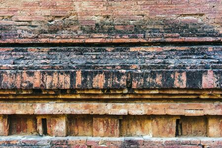 The ancient brick wall was neatly arranged and so strong that there was no space, even a small needle could not penetrate at Dhammayangyi Temple in Bagan, Myanmar.