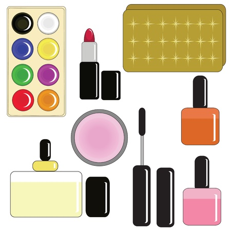 Set for make-up Stock Vector - 16673058