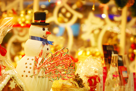 candy stick: snowman with candy stick