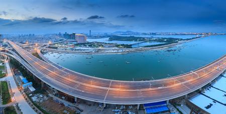 Xiamen Xinglin Bridge Seascape Редакционное