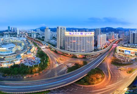 scenic spots: Xiamen,China - Jul 26,2015:Xiamen Mingfa Business Plaza In Xiamen City,Fujian,China