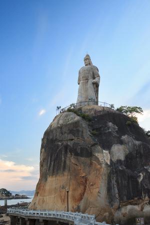 Xiamen, China - Aug 23, 2014: Haoyue Park Zheng Chenggong Statue At Gulangyu Island In Xiamen City, Fujian, China