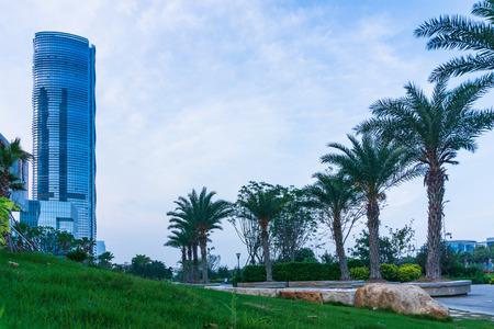 Skyscraper at Xiamen International Financial Center Stock Photo