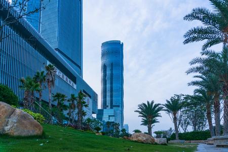 Xiamen, China - May 19, 2018: Skyscraper at Xiamen International Financial Center