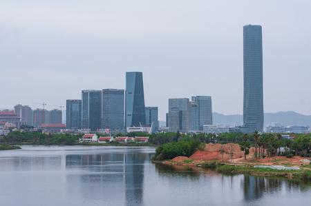 Xiamen, China - Apr 07, 2018: XingLin Bay Business District at Seaside, Xiamen, China Editorial