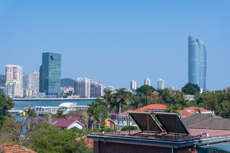 Xiamen, China - May 31, 2018: Lujinag River with Modern Building Background, Landmark of Xiamen