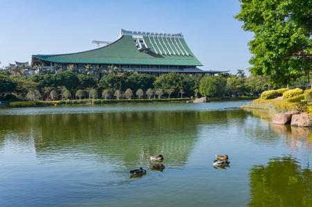 Xiamen, China - Feb 13, 2018: FuRong Lake at Xiamen University