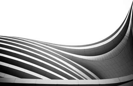Buiten het oog van een moderne architectuur gebouw Redactioneel