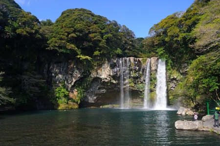 Cheonjiyeon waterfall, Jeju Island, Korea photo