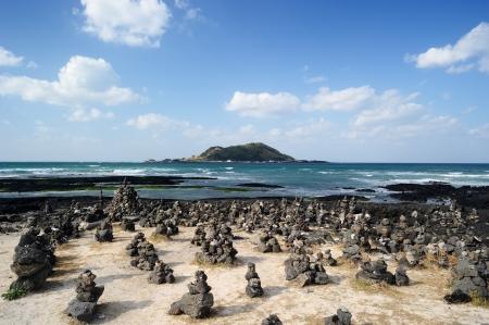 Hyeopjae Beach, Jeju Island, Korea Banco de Imagens