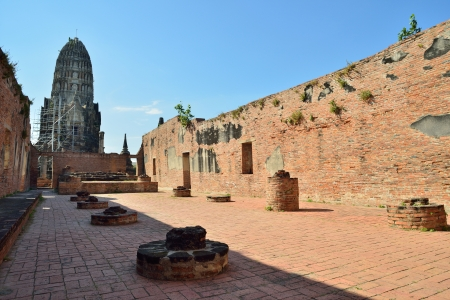 temple Wat Burana in Ayutthaya in Thailand Stock Photo - 17472704