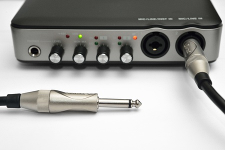 USB Audio Interface recording or Mixing by Computer AND Mono Cable Cord for Acoustic Electric Guitar
