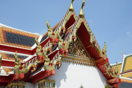 Tiled Roof of Wat Pho in Bangkok in Thailand Stock Photo - 17472698