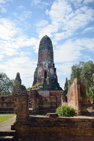 Pagoda in ancient temple  Wat Phraram  in Ayutthya Thailand Stock Photo - 17472713