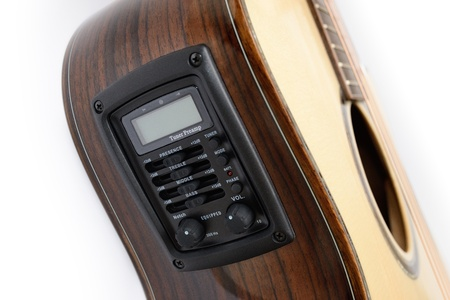 guitar tuner: Pickup and tuner of acoustic guitar