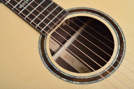 Decorated Sound hole of acoustic guitar Stock Photo - 17546473