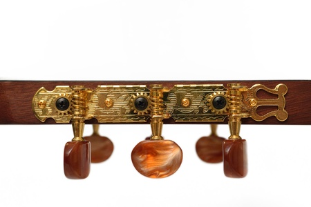closeup Gear of Acoustic Guitar Tuner Stock Photo - 17546463