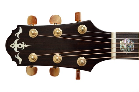 Closeup Acoustic Guitar Head and tuner Stock Photo - 17546466