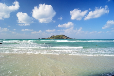 Hyeopjae Beach, Jeju Island, Korea Imagens