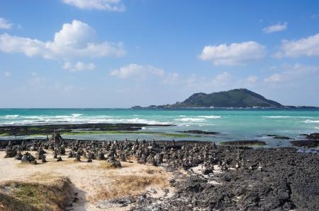 Hyeopjae Beach, Jeju Island, Korea Banque d'images