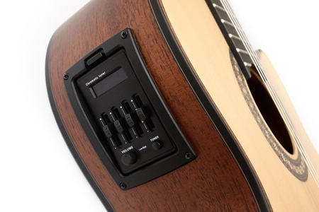 Pickup and tuner of guitar Stock Photo - 17527367