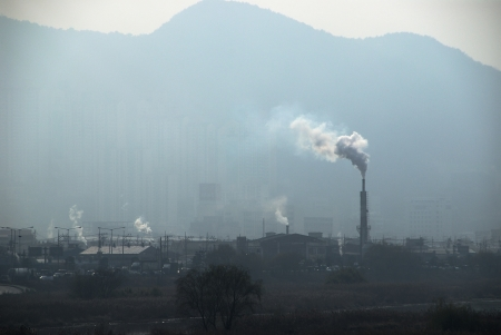 polution: Pipe factory smoke emission