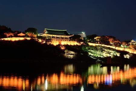 Traditional Castle Building in Jinju, Korea