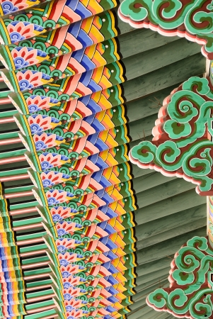 Roof bottom detail of Korean Traditional Architecture Stock Photo - 17878024
