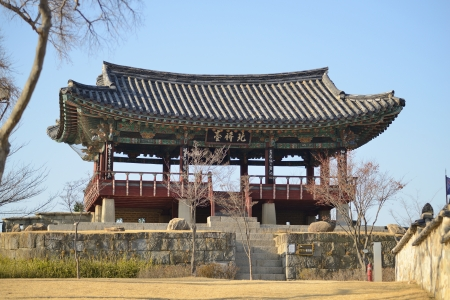 Historical Guard Tower in Jinju Castle, Korea Stock Photo - 18402727