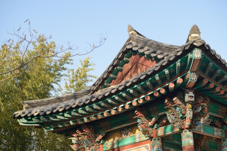 korean traditional roof in jinju castle Stock Photo - 18402726