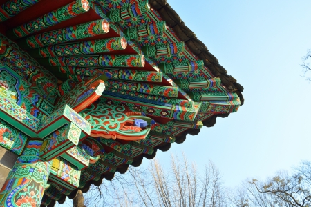 a bottom design of korean traditional roof Stock Photo - 18420797