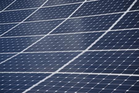 Panel for photovoltaic power generatio Stock Photo