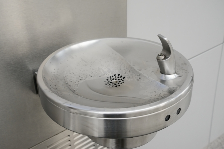 stainless water fountain for drinking photo