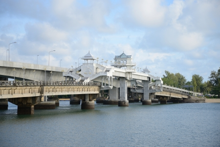 the Bridge between Phuket and Pang Nga in Thailand