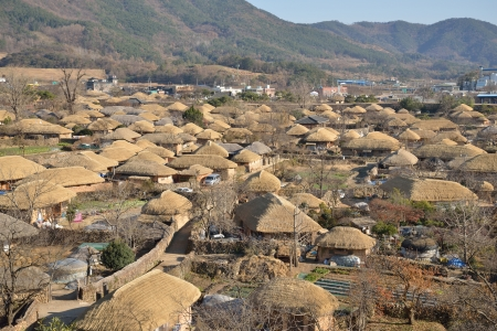 prospect of  Korean Traditional old town called NakAn in Korea