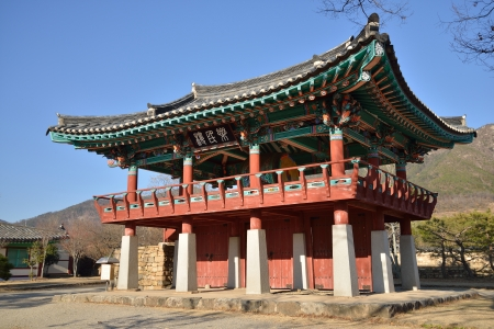Korean Traditional Architecture called NakAnRu in NakAn Old town