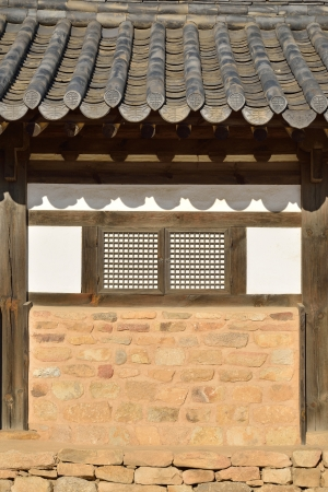 Wall detail of general  Korean Traditional House